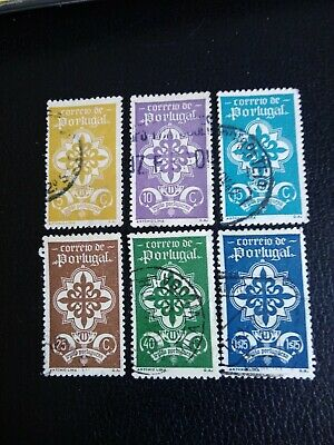 """PORTUGAL 1940, """"Cross of Avis"""" 6 values to 1e75. Good used stamps."""