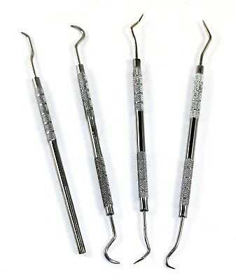4 PC Tooth Cleaning Set Dental Pick Probes