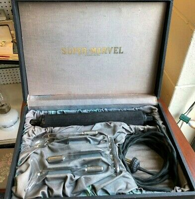 Super Marvel Medical Quack Violet Ray Device Complete 3 Attachments Antique Case