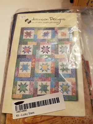Lucky Stars Batiks Atkinson Designs Quilt Kit New In Package