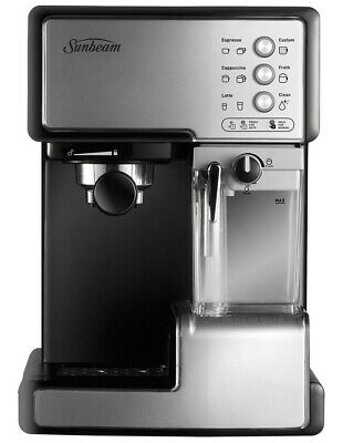 Sunbeam Cafe Barista Manual Espresso Machine with Automated Milk Frother Stainle