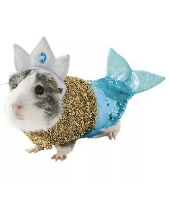 Small Pet Guinea Pig / Dog / Cat / Doll Sequins  Mermaid Costume