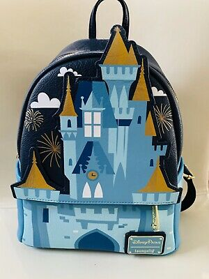 NWT Disney Parks WDW Loungefly Cinderella Castle Mini Backpack free shipping HTF