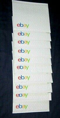 "eBay Branded Airjacket Mailers Bubble Envelopes - Padded 8.75""  x 6.5"" Lot of 10"