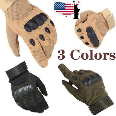 Tactical Hard Knuckle Full Finger Gloves Tactical Riding Combat Gloves US Store