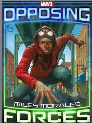 Topps Marvel Collect Card Opposing Forces Miles Morales Vs Hammerhead