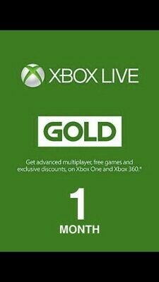 Xbox Live Gold 1 MONTH Code FAST EMAIL DELIVERY