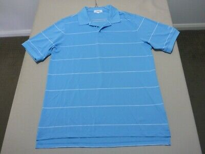 109 Mens Nwot Calvin Klein Golf Sky Blue / White S/S Golf Polo Sze Lrg $180 Rrp.