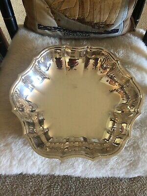 """Vintage F. B. Rogers Silver Co. Crown 1883 Etched Round Serving bowl 11"""""""