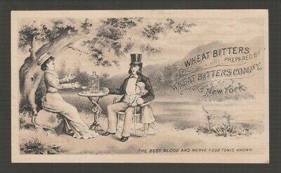 [72262] 1883 Trade Card Wheat Bitters Blood & Nerve Food Tonic