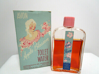 Vintage 1940's-Avon APPLE BLOSSOM Toilet Water 2.0 Oz. IN BOX