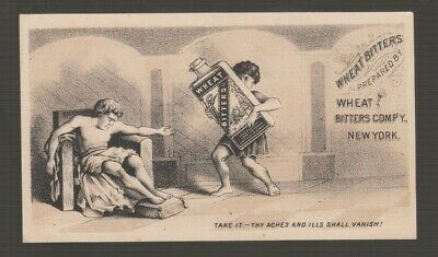 [72273] 1883 Trade Card Wheat Bitters Blood & Nerve Food Tonic