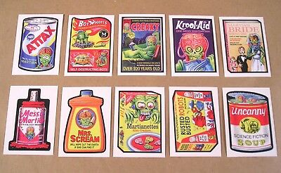 2018 Topps Wacky Packages MARS ATTACKS ATTACKY PACKAGES COMPLETE SET of 10 nm+