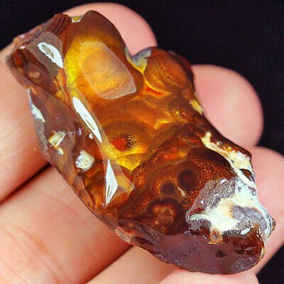 96.65Ct 100% Natural Mexican Multi-Colored Fire Agate Facet Rough YFM1816