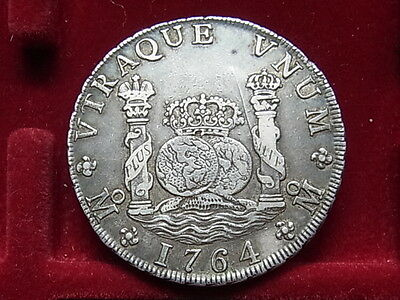 Mexico. 1764-FM 8 Reales - Pillar Dollar..  gVF