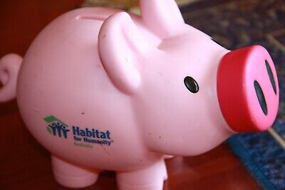 ANZ collectible piggy bank money box pig ANZ Bank Habitat for Humanity Australia