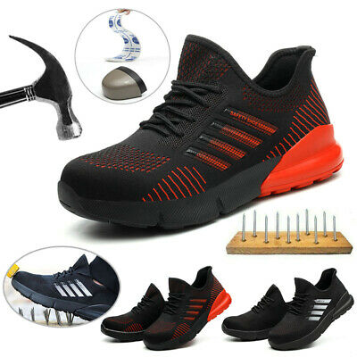 Mens Indestructible Steel Toe Cap Safety Shoes Trainers Work Boots Hiking Shoes