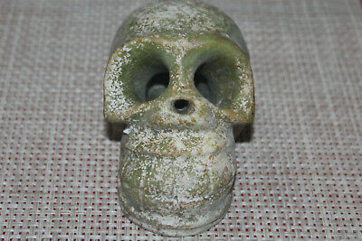 Chinese red mountain culture old jade carving skull skull statue 927g