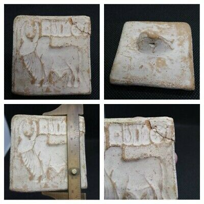 Indus Valley very old  stamp seal .Indus Valley Old Stamp Seal In Pottery. Roman