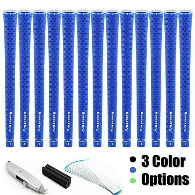 13 x Gavistory Rubber Golf Grips/15 Grip Tapes,1Vise clamp,1 Hook Blade Included