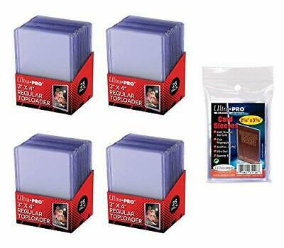 Trading Card Sleeves Hard Plastic Topload Clear Case Holder 100 Baseball Cards