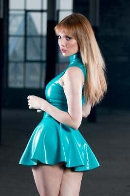 Latex Catsuit Sexy Gummi Dresses Mini Skirts Club Wear Party Hot Customized .4mm