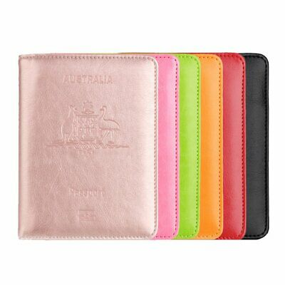 PU Leather RFID Blocking Passport Travel Wallet Holder Cards Cover Case
