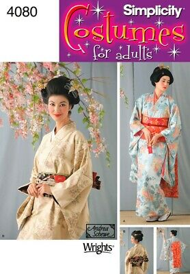 Simplicity Sewing Pattern 4080 Women's Geisha Costume Japanese Kimono