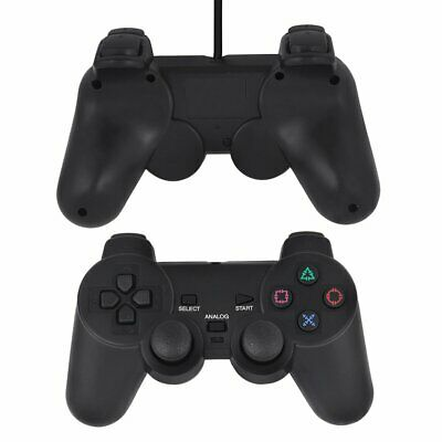 Dual Shock Gamepad Console Joypad For PS2 PlayStation 2 Wire Cable Controller