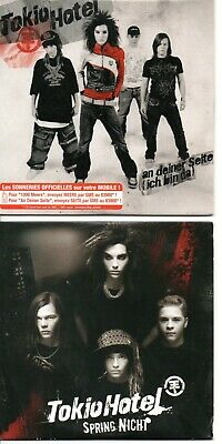 Tokio Hotel Rare Lot Of 2 French Cds In Card Ps