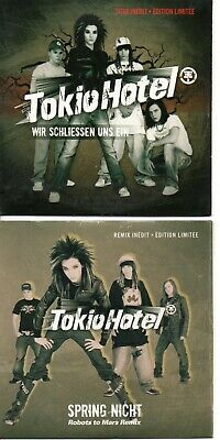 Tokio Hotel Rare Lot Of 2 French Promo Cds In Card Ps