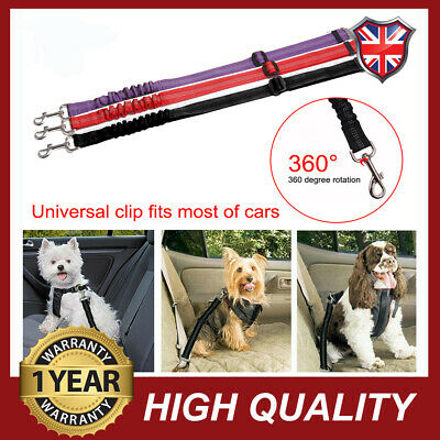 Pet Dog Car Seat Belt Anti Shock Clip Bungee Lead Vehicle Safety Harness Protect