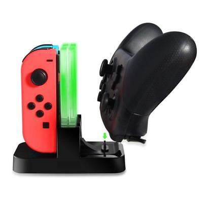 For Nintendo Switch Joy-con Controller Charger Charging Dock Station 4 Port UK