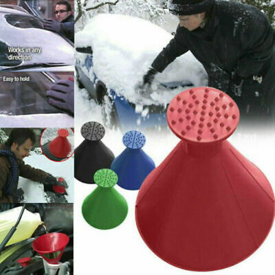 Magical Car Windshield Ice Snow Remover Scraper Tool Round Shaped Cone Funnel