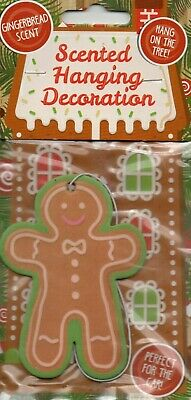 Car Air Freshener - Gingerbread Man - Christmas                 *New And Sealed*