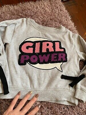 Fabulous Girls NEXT Girl Power Jumper Age 5 Years.cropped