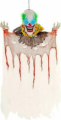 Halloween Haunters Animated Hanging 6 Foot Scary Over-Sized Circus Clown Face