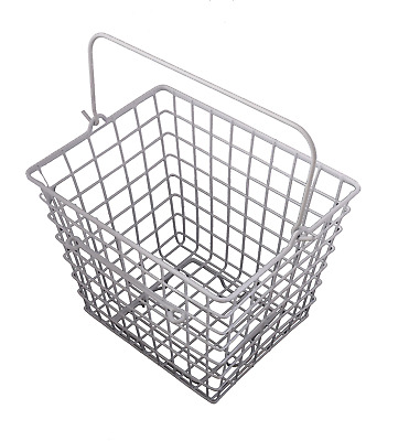 Front Handlebar White Mesh Wire Bike Bicycle Shopping Storage Basket With Handle