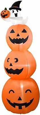 Dreamone 8 Foot Halloween Inflatables Pumpkin with Cute Ghost for Halloween