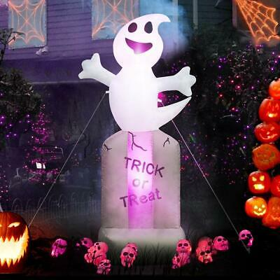 MerryXGift Halloween Inflatable Ghost with Tombstones 5ft - Airblown Inflatable
