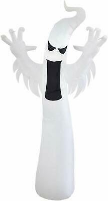 Dreamone 9 Foot Halloween Inflatables Ghost with Build-in LEDs Blow Up