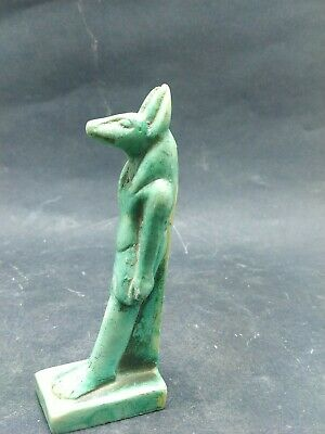 Antique Small Anubis Ancient Egyptian God of the Afterlife Figurine