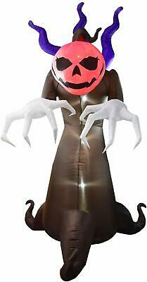 Dreamone 10 Foot Halloween Inflatables Flashing Ghost Pumpkin Creeper for