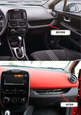 RENAULT CLIO IV HB 2012Up Chrome Dashboard Trim Stainless Steel