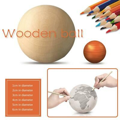 Wood Balls Natural Wooden Craft Round Sphere Craft Supplies 10mm - 75mm Diameter