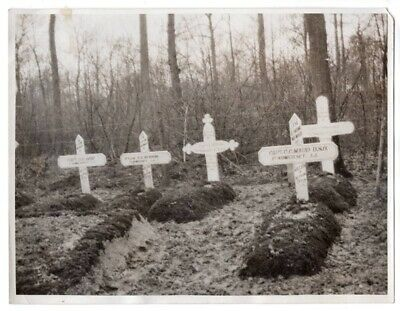 WWI British Graves 1st Somerset Light Infantry in France Original News Photo