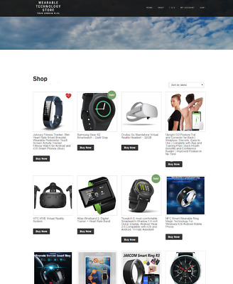 Wearable Technology Website Store With New Domain - Ssl Certificate + Hosting