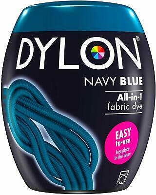 DYLON Washing Machine Dye Pod Navy BLUE Permanent Dyes-up Fabric Powder 350G