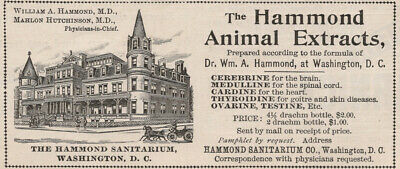 Hammond Animal Extracts - Victorian Ad - July 1895 - Quack Medicine Sanitarium