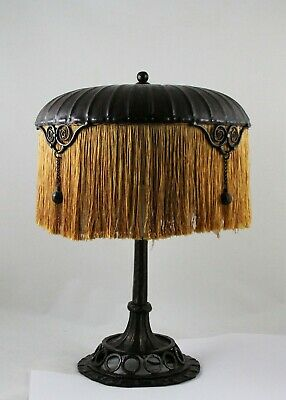 Art Nouveau, Deco Table Lamp, wrought iron / fer forge, Edgar Brandt - Paul Kiss